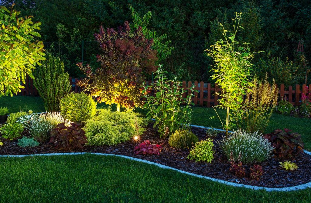 charlotte outdoor landscaping lighting